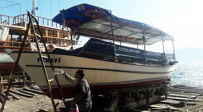 Tekneler yaza hazırlanıyor