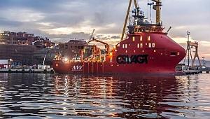Türkiye'nin ilk rüzgar türbin bakım gemisi teslim edildi
