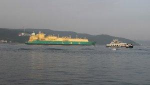 Doğalgaz tankeri Çanakkale Boğazı'ndan geçti