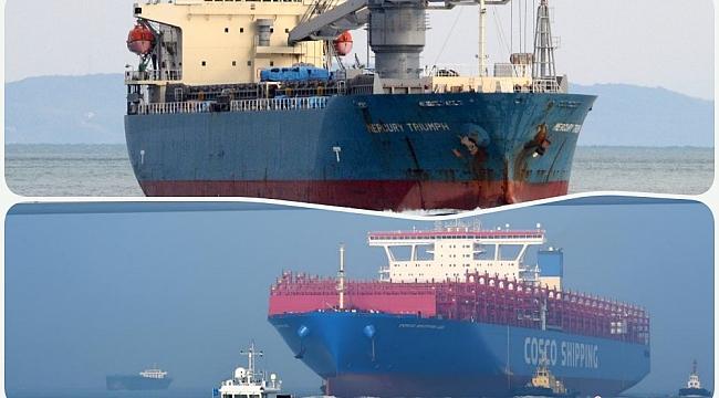 Dünyanın en büyük konteyner gemisi Cosco Shipping Leo, deneme seyrinde çarpıştı