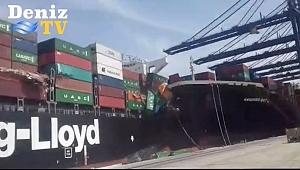 Karaçi Limanında konteyner gemileri çarpıştı