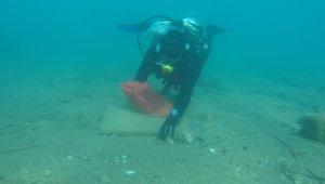 Bodrum Ortakent deniz dibi temizliğinde neşeli anlar