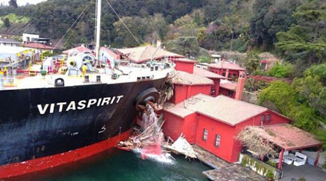 Yalıya çarpan geminin haczine yapılan itiraz tespit raporundan sonra karara bağlanacak