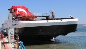 Cemre Tersanesinde inşa edilen akülü gemi Norveç'e yola çıktı
