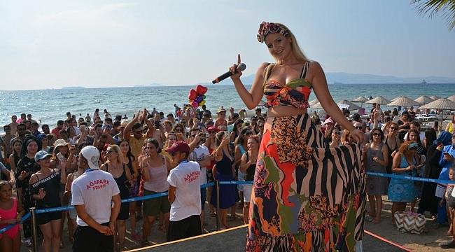 Dj Suat Ateş Dağlı ve Popçu Gökçe Kırgız'dan plaj partisi