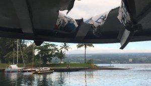 Hawaii'de lav topu tur gemisine isabet etti: 23 yaralı