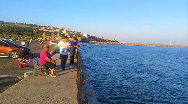 Sahilde olta balıkçılığı yoğunluğu