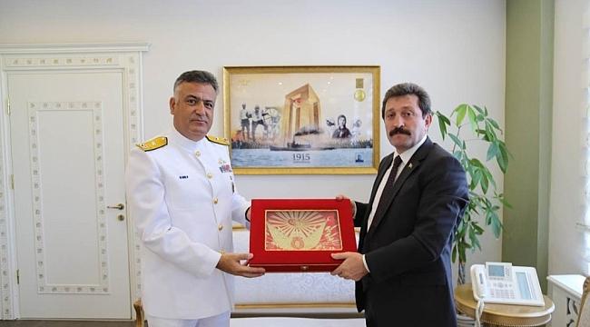 Yeni Boğaz ve Garnizon Komutanı Tuğamiral Uça'dan , Vali Tavlı'ya ziyaret
