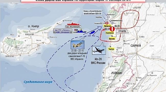 """Rusya Savunma Bakanlığı: """"İsrail jetleri Lazkiye'de kasıtlı olarak tehlikeli bir durum oluşturdu"""""""