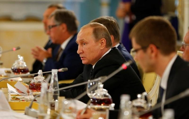 Putin Erdoğan Görüşmesinden Kareler