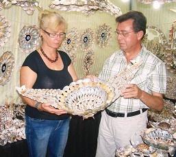 Deniz kabuğuyla sanata ilgi büyük