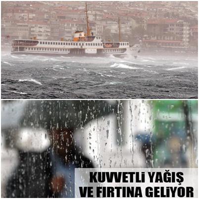 Aman Dikkat! Marmara'da Fırtına Ve Yağış
