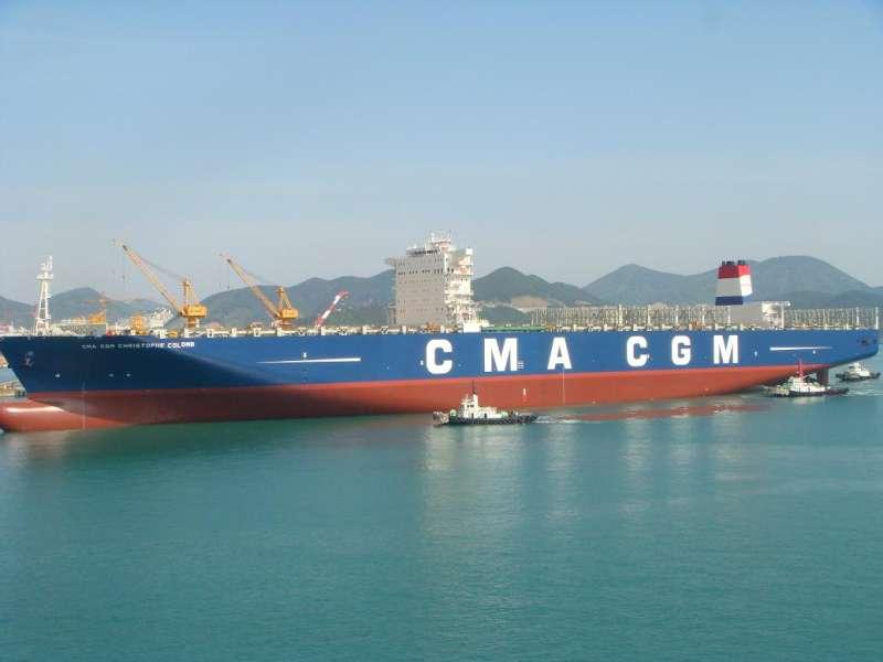 En büyük Fransız bayraklı konteyner hizmete girdi