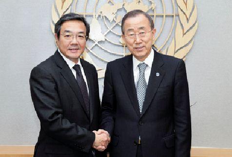 Koji Sekimizu, Ban Ki Mun ile buluştu