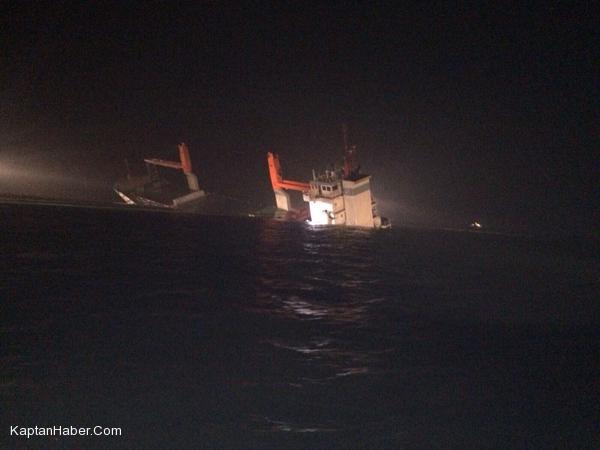 """Tanker """"Al Oraiq"""" ile çarpışan """"Flinterstar"""" battı, mürettebat kurtarıldı"""