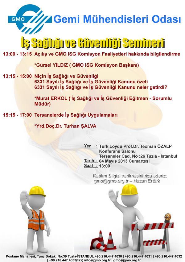 İş Sağlığı ve Güvenliği semineri 4 Mayısta