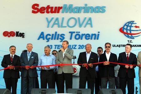 """Başbakan """"Yalova Marina"""" Açılış Törenine katıldı"""