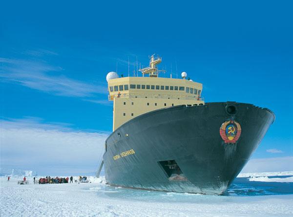 Buzkıran Yolcu Gemisi Buza Sıkıştı