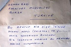 Libya'dan Denize Attığı Mektup Bursa'ya Ulaştı