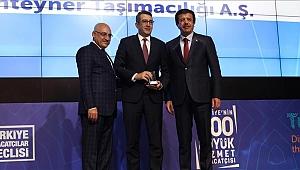 """Arkas Line'a """"Hizmet İhracatçısı"""" Ödülü"""