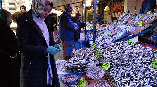 Bozüyük'te balık pazarı kontrol edildi