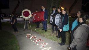 Ermeni teröristlerin şehit ettiği Türk diplomatlar Los Angeles'ta anıldı