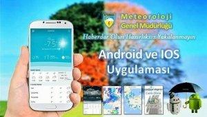Meteorolojik veriler artık mobil uygulamada
