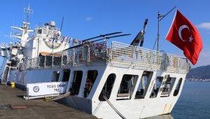 Rize'ye Sahil Güvenlik Komutanlığı'na bağlı ' TCSG DOST' Arama Kurtarma Gemisi demir attı