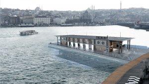 Karaköy iskelesi yerine yapılan Yüzer iskelenin animasyon fotoğrafları ortaya çıktı