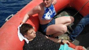 Kayalıklardan düşen Rus turist Sahil Güvenlik tarafından kurtarıldı