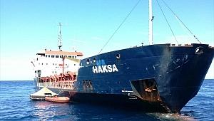 Hırvatistan'da Türk yük gemisi M/V Haksa batıyor