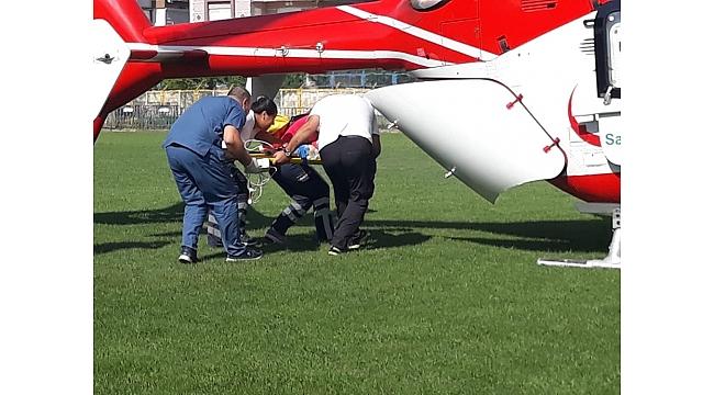 Hava ambulansı, minik Tevfik için havalandı