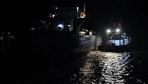 İmralı adası açıklarında LPG yüklü tanker ile yük gemisi çarpıştı