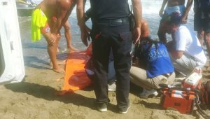 Denize giren ve kaybolan genç 1 saat sonra bulundu