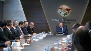 ATO heyetinden Sanayi ve Teknoloji Bakanı Mustafa Varank'a ziyaret