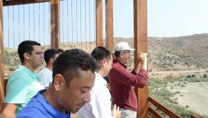 Bafa Gölü'nde kuş gözlem terası yapılıyor