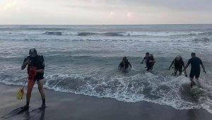 Denizde kaybolan genç için arama çalışmaları devam ediyor
