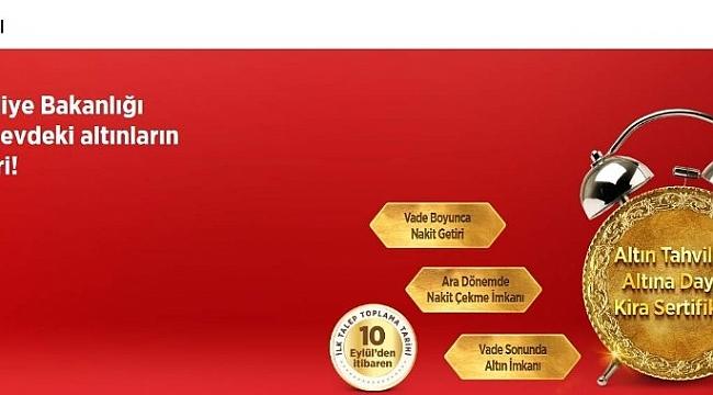Hazine, altın tahvili ve kira sertifikası ihracıyla ilgili talep toplamaya başladı