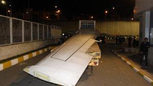 Pistten çıkan uçağın karayolu ile Yomra'ya nakil işlemi başladı