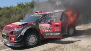 Rally şampiyonasında kaza