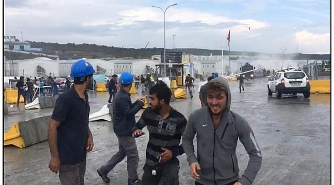 Üçüncü Havalimanı Akpınar Yerleşkesi'nde eylem yapan işçilere müdahale