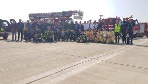 Bingöl Havalimanında yangın tatbikatı
