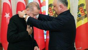Moldova'da Erdoğan'a Cumhuriyet Nişanı
