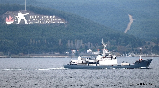 Rus askeri gemisi boğazdan geçti