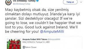 ABD Türkiye Büyükelçiliği'nden Ampute Futbol Milli Takımı'na destek
