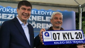 Antalya'da gezi teknelerine 'KYL' plaka