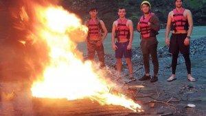 Eksi 1 derecede Türkiye Rafting Yarışması'na hazırlanıyorlar