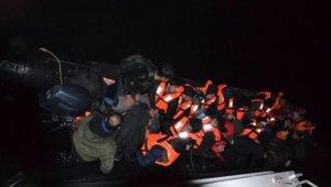 Göçmenler batarken yakalandı