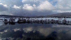 Gököz Göleti kışın da büyülüyor