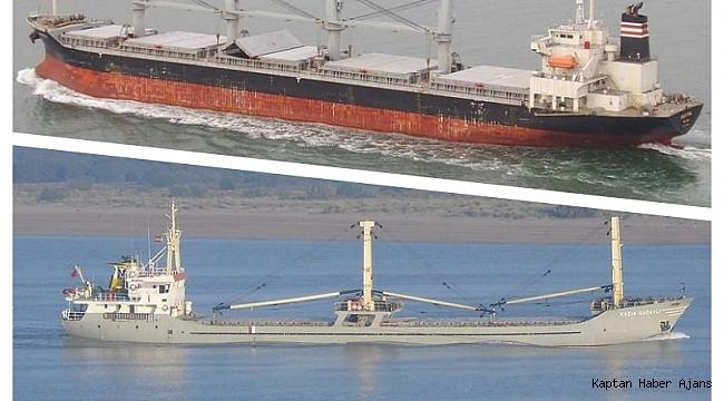 Kuzey Ege Denizinde gemiler çarpıştı : M/V Panda ve M/V Barlas